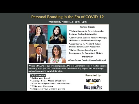 Personal branding in the Era of COVID-19 Webinar - Highlights
