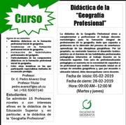 """Didáctica de la """"Geografía Profesional"""""""