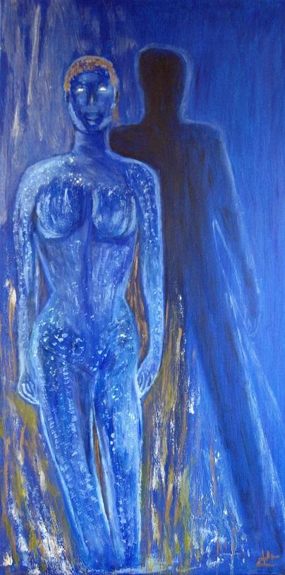 Peinture à  l huile Mysthique 100 x 50