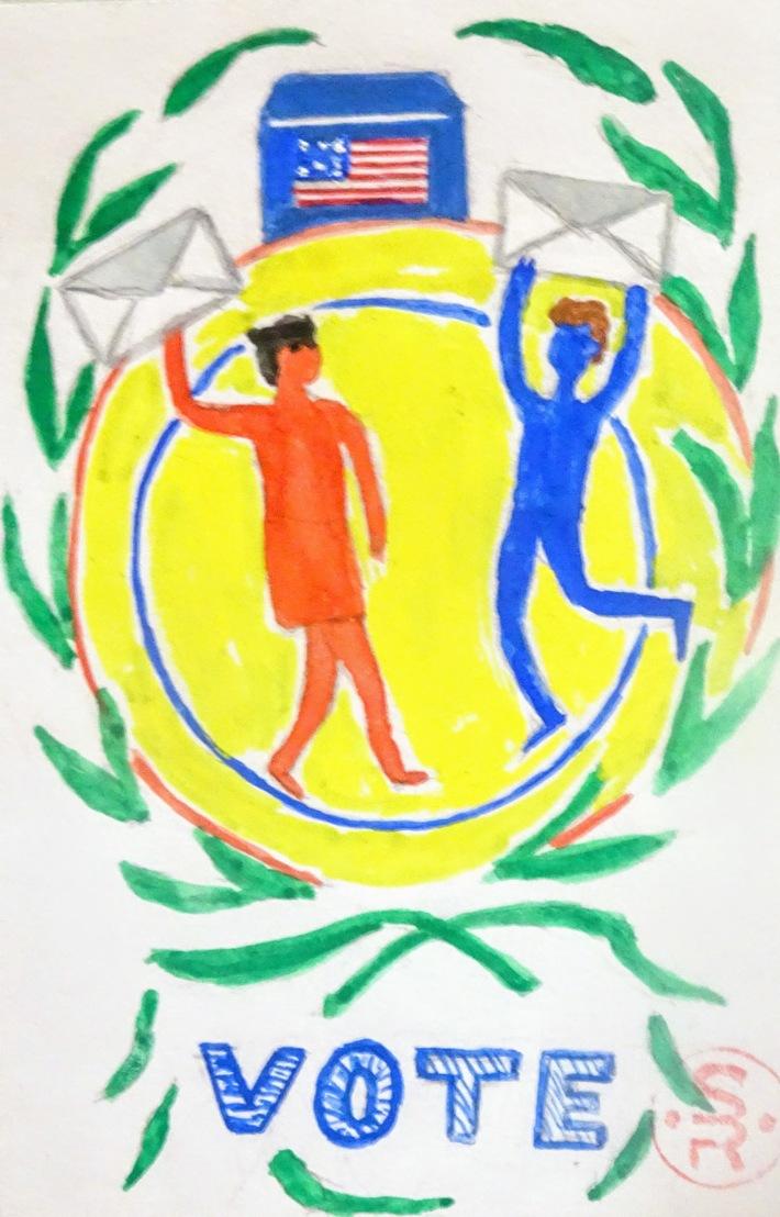 Mail art Theme Vote by Sabela Baña