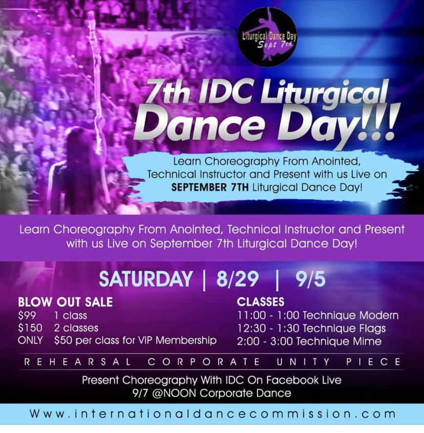 How Will You Celebrate Liturgical Dance Day!