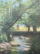 'Creekside Morning Reflections' 12 x 9 Oil
