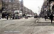 Green Lanes at the bottom of Hewitt Road, c1940