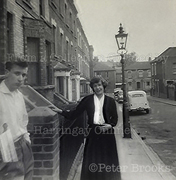 St Mary's Road, Hornsey, north towards Westfield Rd, c1960