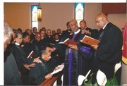 BISHOP HOLMES LAID HANDS DURING HOLY ORDERS CEREMONY FOR ORDAINED ELDER OF REV. DR. MARTHA ANDREE LEWIS