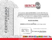 Certificado de Membro Oficial do IBECRIMA-Instituto Iberoamericano de Criminologia Aplicada