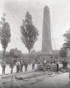 Moving the Bounds Green Road Obelisk, 1904