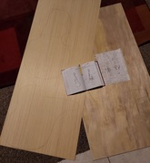 Drawings plus 1/8t in. panneling tops and 1/4 in. panel backing.