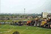 Across Alexandra Park towards Harringay, 1978