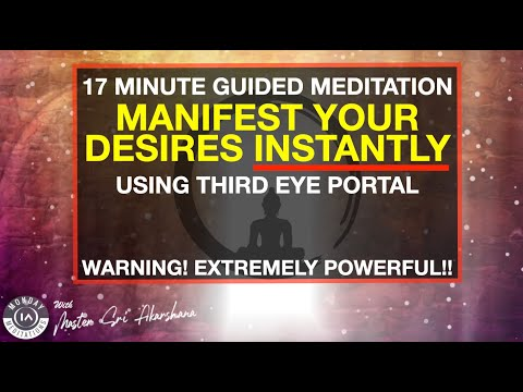 17 Minute Guided Meditation to Manifest What You Want Using Third Eye Portal