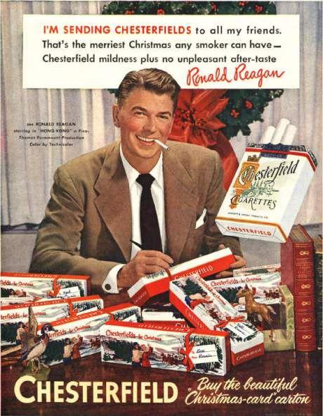 ronald reagan chesterfield smokes 25526