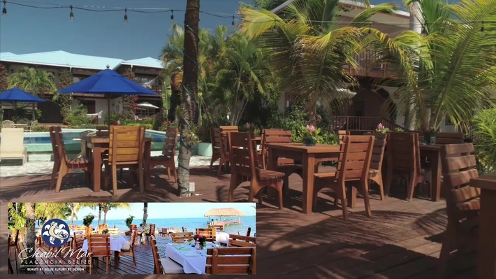 Chabil Mar Resort, Belize - Beachside Dining and Gardens