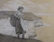 """A Study of the Original by Winslow Homer, """"Flamborough Head, England"""""""