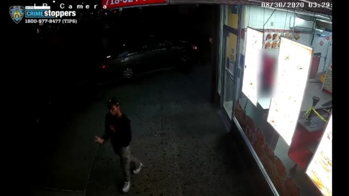 Surveillance footage of a shooting on White Plains Rd