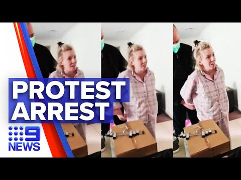 Coronavirus: Pregnant woman charged for encouraging lockdown protests | 9 News Australia