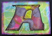 "Original Mixed-Media 6""x4# Card to Swap"