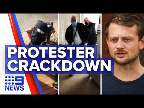 Coronavirus: Police arrest protester James Bartolo on incitement charges | 9News Australia