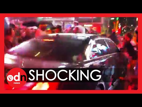 Moment Car Ploughs Into Black Lives Matter Protesters in Times Square, New York City