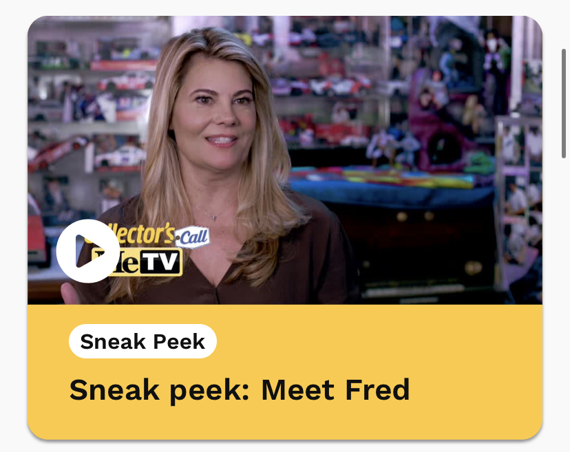 I was On, MeTV's, Collector's Call, S2E6, Meet Fred,with, Lisa Whelchel, Lisa inside my Toy Room