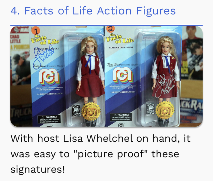 I was On, MeTV's, Collector's Call, S2E6, Meet Fred,with, Lisa Whelchel, Mego dolls signed by Lisa