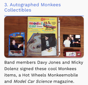 I was On, MeTV's, Collector's Call, S2E6, Meet Fred,with, Lisa Whelchel, autographed Corgi, Husky, Diecast signed by The Late Davy Jones