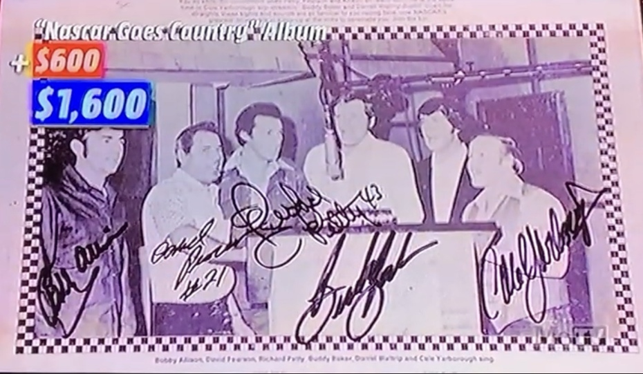 was On, MeTV's, Collector's Call, S2E6, Meet Fred,with, Lisa Whelchel, shown was our, Dale Earnhardt Jr., signed AC Delco Busch, Series Fender