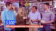I was On, MeTV's, Collector's Call, S2E6, Meet Fred,with, Lisa Whelchel, shown was our, Autographed Dinky, Star Trek, Enterprise, worth $300.00