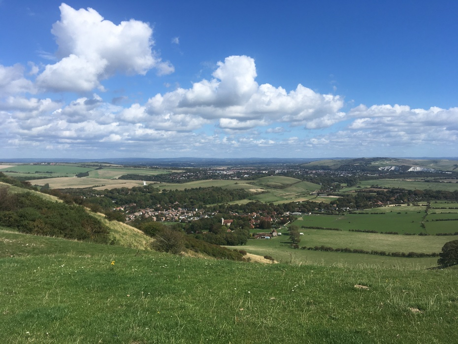 Above Kingston with Lewes in the distance