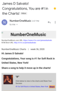 Great News!!!...#1 for the Second Time with this Great Song!