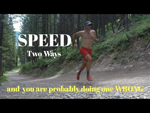 Two Ways to get RUNNING SPEED. And you are probably doing one of them WRONG.