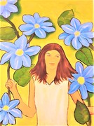 b17 Im Blumenwald, 2020, Acryl auf Leinwand, 60 x 80 cm