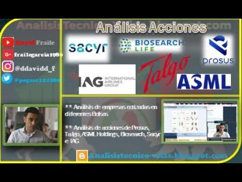 Video Análisis con David Fraile:  Talgo, IAG, Biosearch, Sacyr, Prosus y ASML Holdings