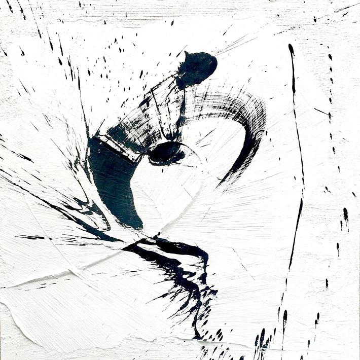 4 ways Abstr. Kall 1-8:2020  80x80  Mineral- Acrylfarbe auf Hartfaser