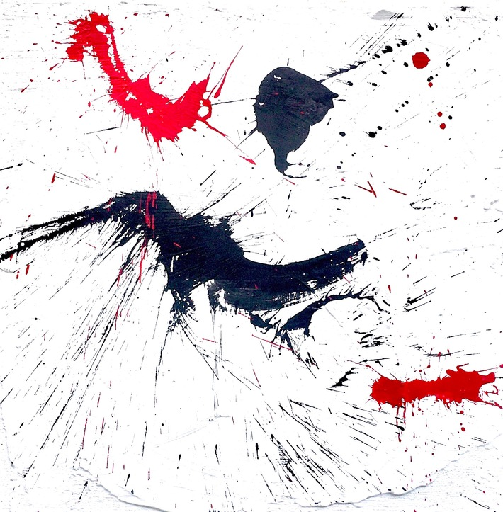 4 ways Abstr. Kall 4-8:2020  80x80  Mineral- Acrylfarbe auf Hartfaser
