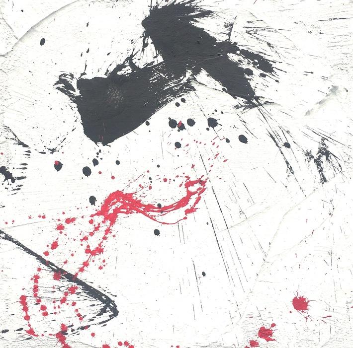 4 ways Abstr. Kall 6-8:2020  80x80  Mineral- Acrylfarbe auf Hartfaser