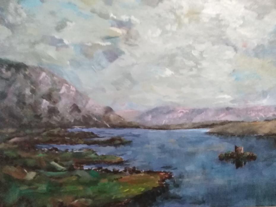 Lough Corrib with Hens Castle