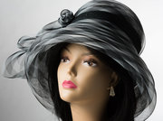 Black & White crinoline Hat