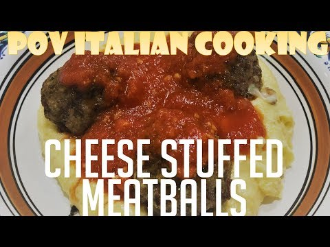 Cheese Stuffed Meatballs - POV Italian Cooking Episode 114