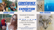 Conférence sur la communication animale et exposition de tableaux