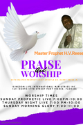 Copy of Praise and Worship - Church Flyer Template - Made with PosterMyWall