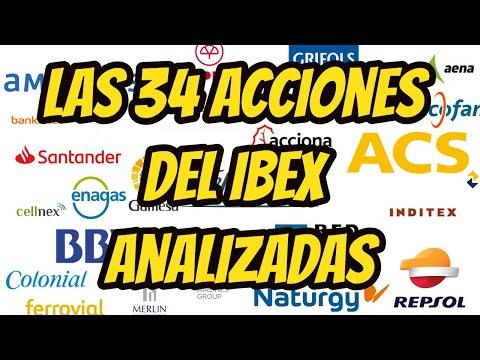 LAS 34 ACCIONES DEL IBEX ANALIZADAS por Alberto Garcia Sesma