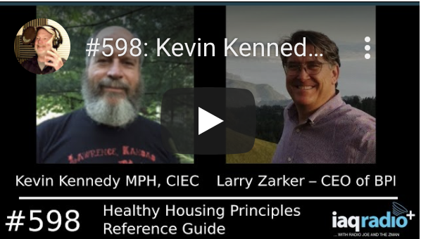 IAQ Radio: Kevin Kennedy MPH, CIEC & Larry Zarker – CEO of BPI – Healthy Housing Principles Reference Guide