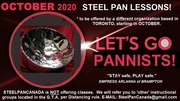 SAFE DISTANCING STEEL PAN LESSONS OCTOBER 2020 in TORONTO (not offered by SteelPanCanada.com) however..