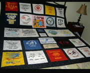 T shirt quilt made for my son