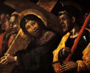 Christ Carrying the Cross, 1505 and being scorned by a Roman Guard