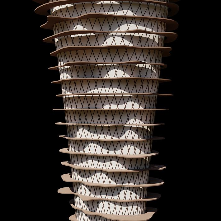 Terrace Tower Rhino Grasshopper