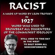 Talmudic Communist Jew Leon Trotsky - His 1927 Made Up Word -RACIST