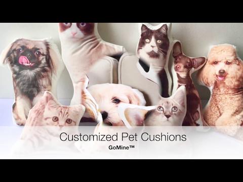 GoMine - Customized Pet Cushions (Pet Photo Portrait Pillows)