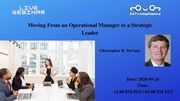 Moving From an Operational Manager to a Strategic Leader