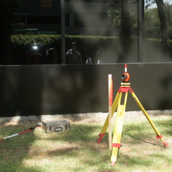 Modern land surveying equipment